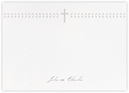Lamina II (Stationery) - Oyster - Paperless Post - Personalized Stationery