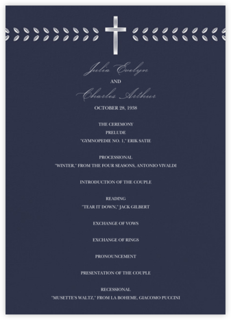 Lamina II (Program) - Navy - Paperless Post - Wedding menus and programs - available in paper