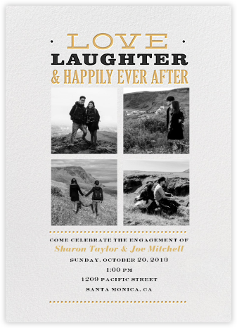 Happily Ever After - White - Crate & Barrel - Engagement party invitations