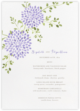 Dahlias (Menu) - Purple | null
