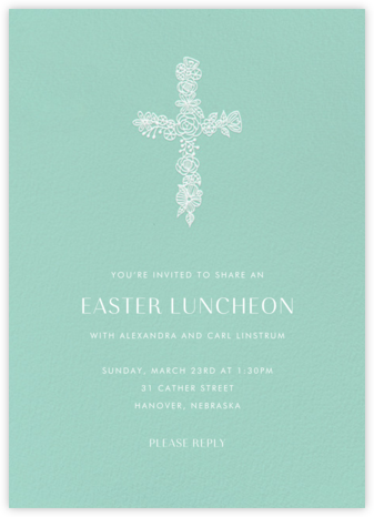 Thérèse II (Invitation) - Celadon - Paperless Post - Easter Invitations