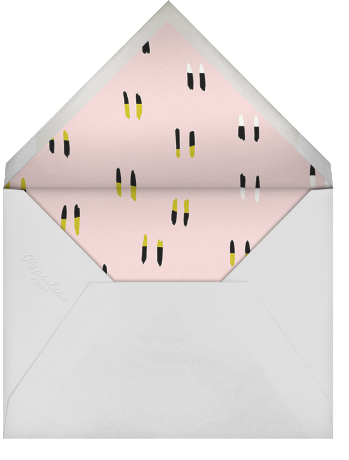 Candle Party - Light Pink/Gold - Ashley G - Adult birthday - envelope back