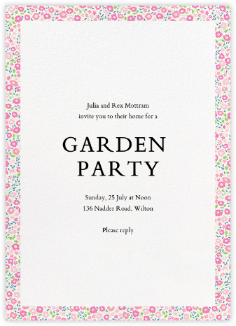 Fairford  - Liberty - Summer entertaining invitations