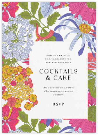 Angelica Garla (Invitation) - Liberty - Adult Birthday Invitations