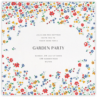Kimberly Sarah - Liberty - General Entertaining Invitations