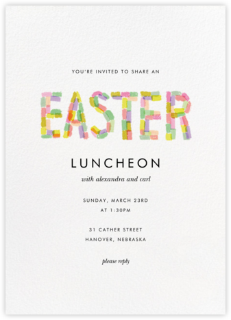 Paschal Pastels - White - Rifle Paper Co. - Easter invitations