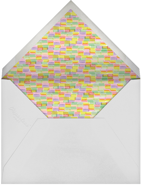 Paschal Pastels - Yellow - Rifle Paper Co. - Easter - envelope back