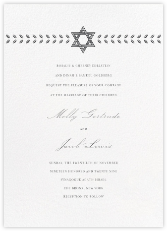Kayitz II (Invitation) - Charcoal - Paperless Post - Wedding Invitations