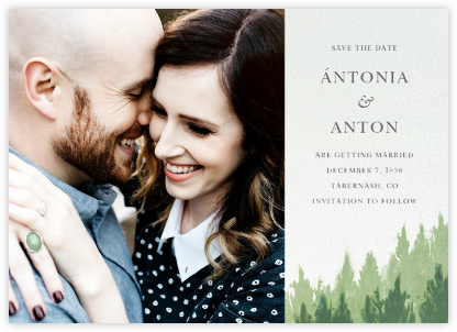 Rainier (Photo Save the Date) | horizontal