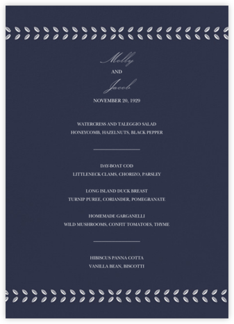 Kayitz II (Menu) - Navy - Paperless Post - Wedding menus and programs - available in paper