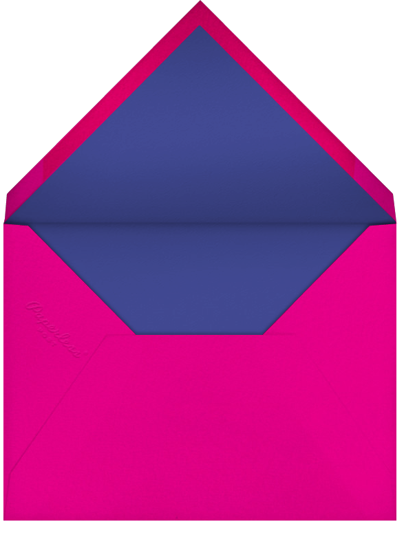 Choli (Save the Date) - Indigo - Paperless Post - Save the date - envelope back