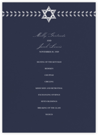 Kayitz II (Program) - Navy - Paperless Post - Wedding menus and programs - available in paper