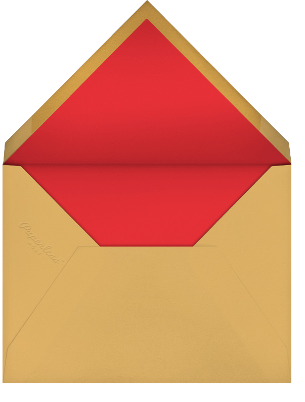 Choli (Stationery) - Red - Paperless Post - Personalized stationery - envelope back