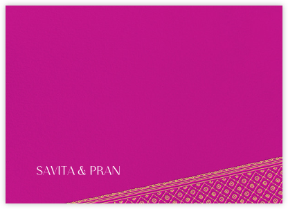 Choli (Stationery) - Magenta - Paperless Post - Personalized Stationery