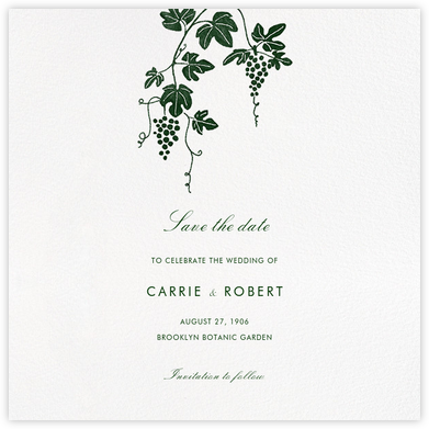 Vineyard II (Save the Date) - Hunter - Paperless Post - Save the dates