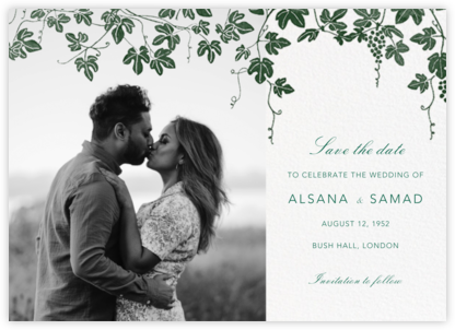 Vineyard II (Photo Save the Date) - Hunter - Paperless Post - Save the dates