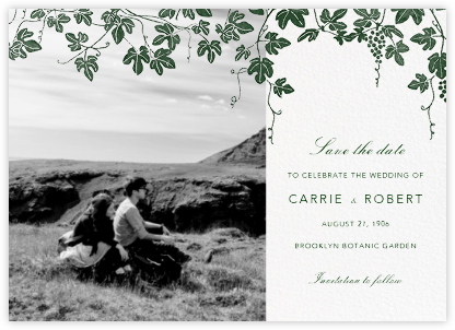 Vineyard II (Photo Save the Date) - Hunter - Paperless Post - Save the date cards and templates