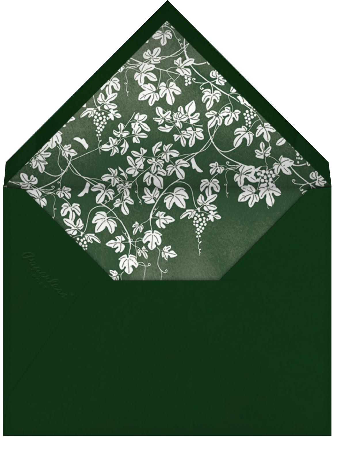 Vineyard II (Photo Save the Date) - Hunter - Paperless Post - Photo  - envelope back