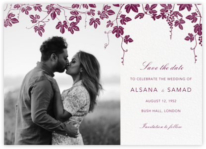 Vineyard II (Photo Save the Date) - Merlot - Paperless Post - Save the dates