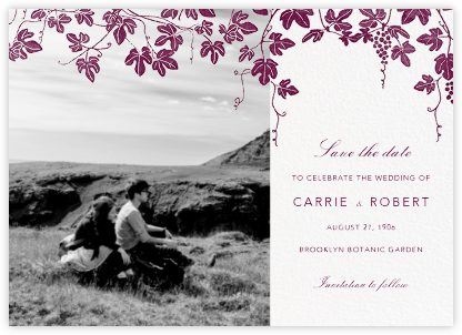 Vineyard II (Photo Save the Date) - Merlot - Paperless Post - Photo save the dates