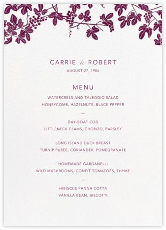 Vineyard II (Menu) - Merlot - Paperless Post - Wedding menus and programs - available in paper