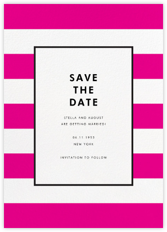 Stripe Suite (Save the Date) - Pink - kate spade new york - Save the dates