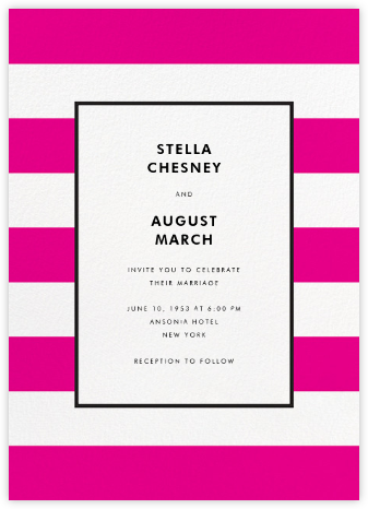 Stripe Suite (Invitation) - Pink - kate spade new york - Wedding Invitations