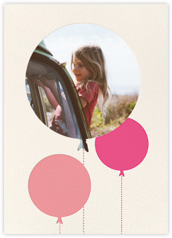 Balloon Birthday (Photo) - Pink | tall