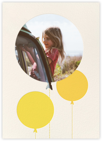 Balloon Birthday (Photo) - Yellow - kate spade new york - Online Kids' Birthday Invitations