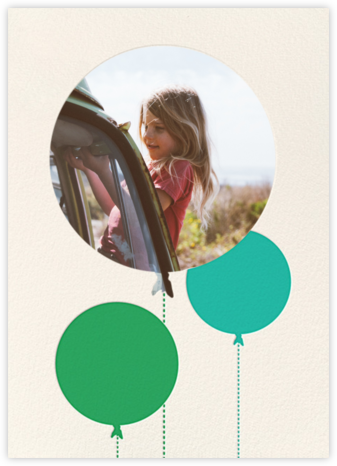 Balloon Birthday (Photo) - Green - kate spade new york - Kids' birthday invitations