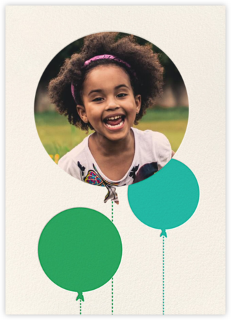 Balloon Birthday (Photo) - Green - kate spade new york - Online Kids' Birthday Invitations