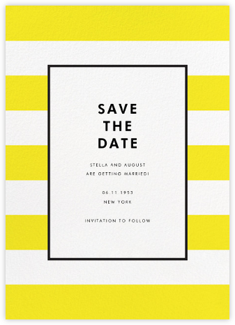 Stripe Suite (Save the Date) - Yellow - kate spade new york - Save the dates