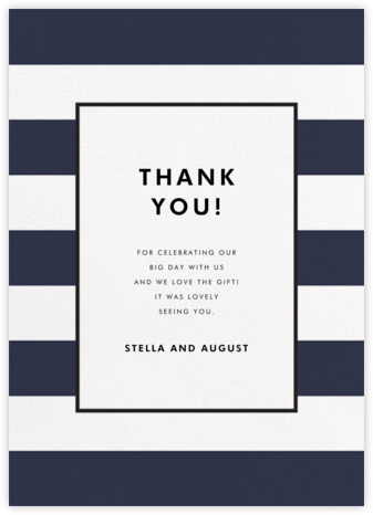 Stripe Suite (Stationery) - Navy - kate spade new york - Wedding thank you notes