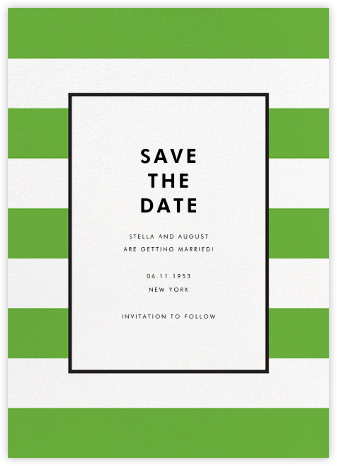 Stripe Suite (Save the Date) - Green - kate spade new york - Save the dates