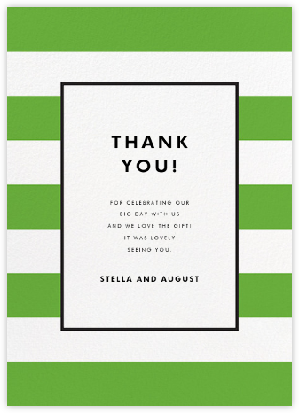 Stripe Suite (Stationery) - Green - kate spade new york - Wedding thank you notes