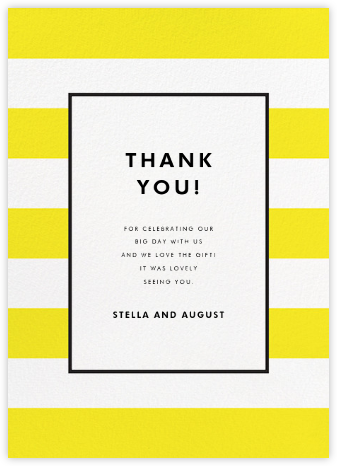 Stripe Suite (Stationery) - Yellow | null