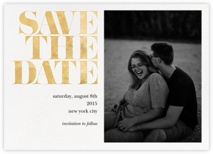 Vintage Book Save the Date (Photo) - Gold - kate spade new york - Photo save the dates