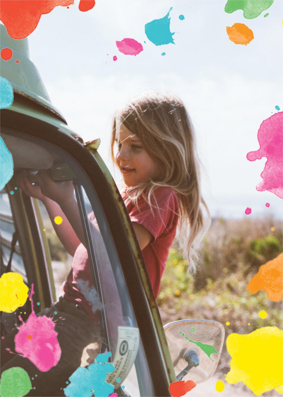 Splatter Paint (Photo) - kate spade new york - Kids' birthday invitations