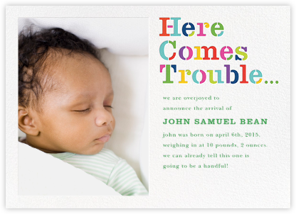 Here Comes Trouble (Photo) - kate spade new york - Announcements