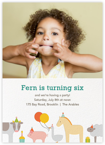 Barnyard Bash (Photo) - Petit Collage - Kids' birthday invitations