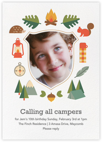 Critter Camp - Petit Collage - Kids' birthday invitations