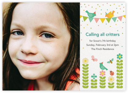 Spring Fling (Photo) - Petit Collage - Online Kids' Birthday Invitations
