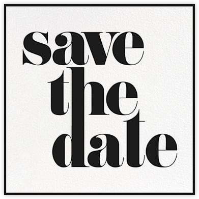 A Golden Date - White/Black - kate spade new york - Kate Spade invitations, save the dates, and cards