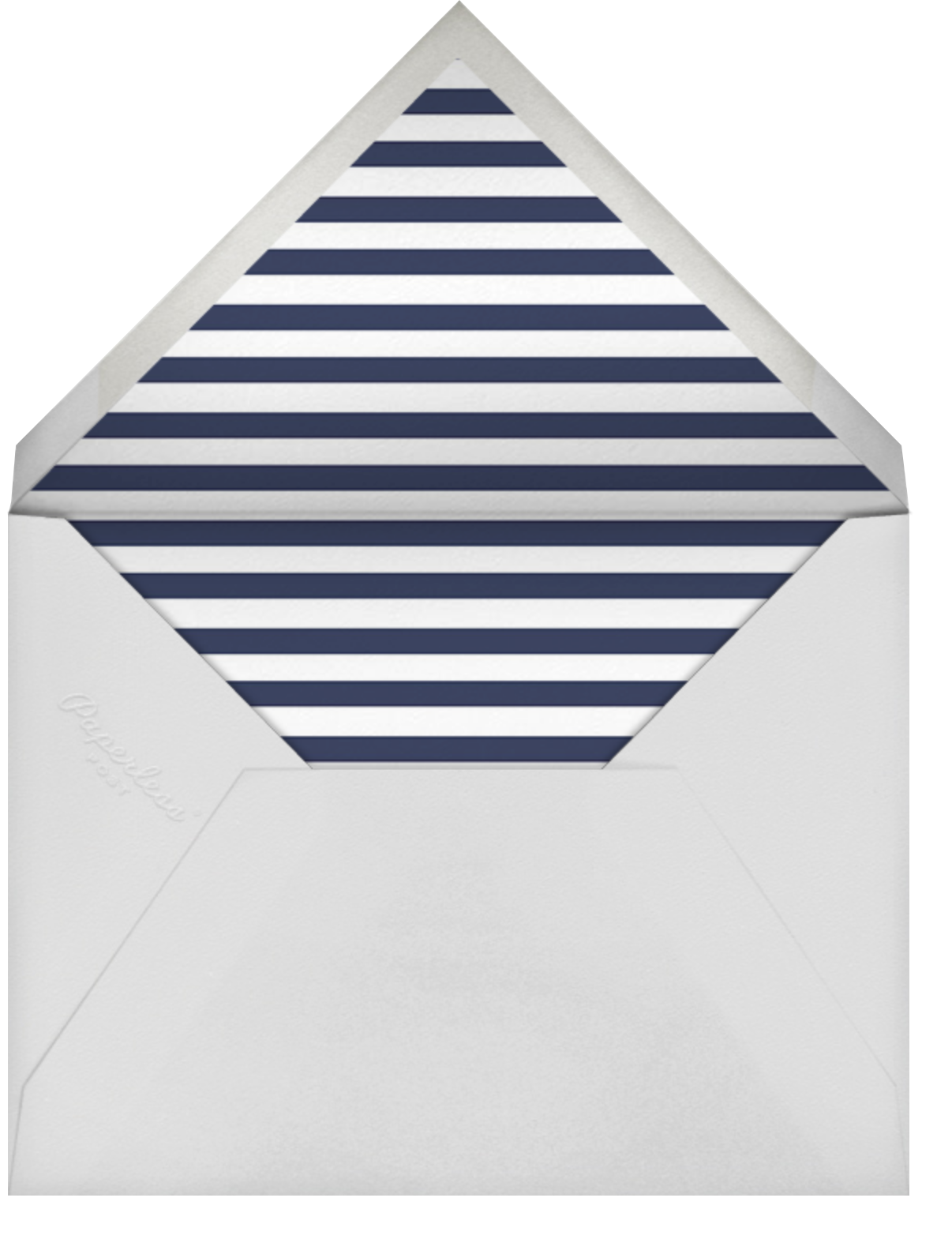 A Golden Date - White/Navy - kate spade new york - Party save the dates - envelope back