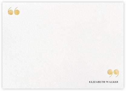 Quotes and Monogram - Gold - kate spade new york - Personalized Stationery