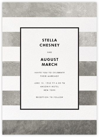 Stripe Suite (Invitation) - Silver - kate spade new york - Wedding Invitations