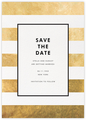 Stripe Suite (Save the Date) - Gold