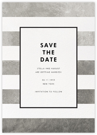 Stripe Suite (Save the Date) - Silver - kate spade new york - Save the dates