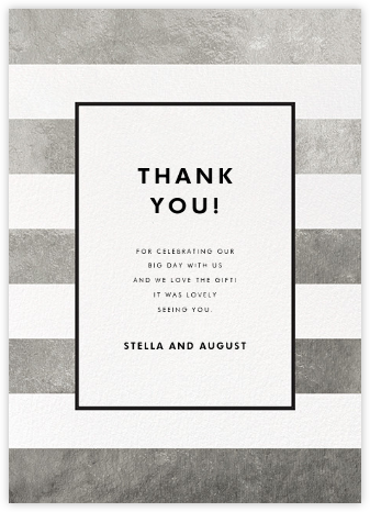 Stripe Suite (Stationery) - Silver - kate spade new york - Wedding thank you notes