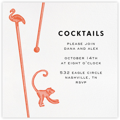 Swizzle Cocktail - White - kate spade new york - General Entertaining Invitations